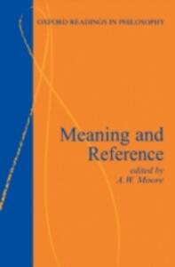 Meaning and Reference - cover