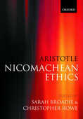Libro in inglese Aristotle: Nicomachean Ethics: Translation, Introduction, Commentary