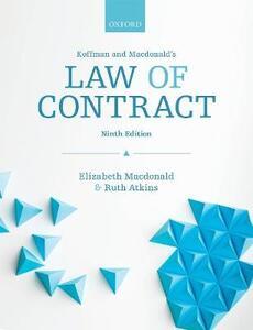 Koffman & Macdonald's Law of Contract - Elizabeth Macdonald,Ruth Atkins - cover