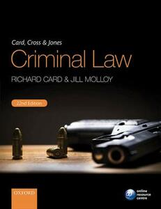 Card, Cross & Jones Criminal Law - Richard Card,Jill Molloy - cover