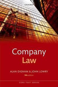 Company Law - Alan Dignam,John Lowry - cover