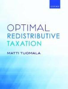 Optimal Redistributive Taxation - Matti Tuomala - cover