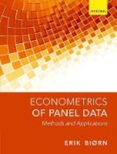 Econometrics of Panel Data: Methods and Applications - Erik Biorn - cover