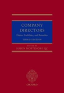 Company Directors: Duties, Liabilities, and Remedies - cover