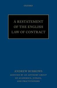 A Restatement of the English Law of Contract - Andrew Burrows - cover
