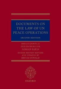 Documents on the Law of UN Peace Operations - Bruce Oswald,Helen Durham,Adrian Bates - cover