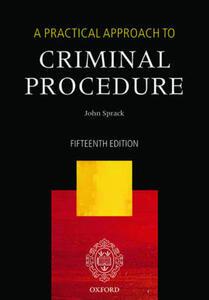 A Practical Approach to Criminal Procedure - John Sprack - cover