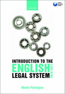 Introduction to the English Legal System - Martin Partington - cover