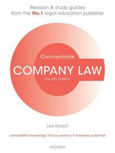 Company Law Concentrate: Law Revision and Study Guide - Lee Roach - cover