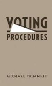 Voting Procedures - Michael Dummett - cover