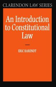 An Introduction to Constitutional Law - Eric Barendt - cover