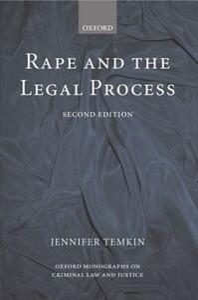 Rape and the Legal Process - Jennifer Temkin - cover