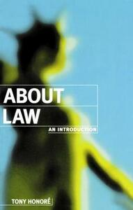 About Law: An Introduction - Tony Honore - cover