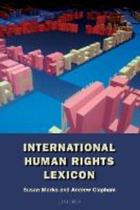 International Human Rights Lexicon - Susan Marks,Andrew Clapham - cover