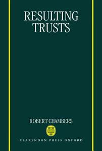 Resulting Trusts - Robert Chambers - cover