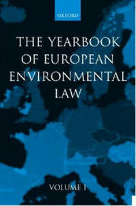 Yearbook of European Environmental Law: Volume One - cover