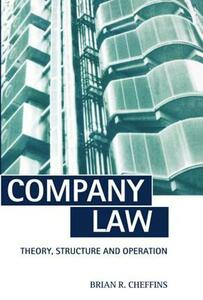 Company Law: Theory, Structure and Operation - Brian R. Cheffins - cover