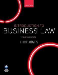 Introduction to Business Law - Lucy Jones - cover