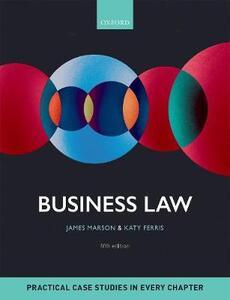 Business Law - James Marson,Katy Ferris - cover