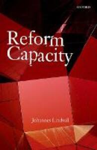 Reform Capacity - Johannes Lindvall - cover