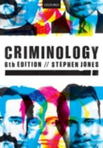 Criminology - Stephen Jones - cover