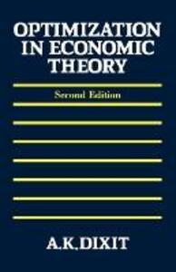 Optimization in Economic Theory - Avinash K. Dixit - cover