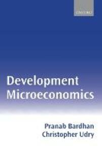 Development Microeconomics - Pranab Bardhan,Christopher Udry - cover