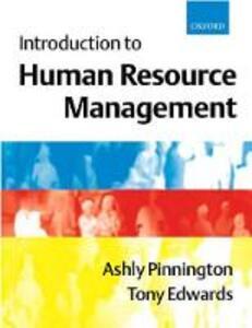 Introduction to Human Resource Management - Ashly H. Pinnington,Tony Edwards - cover