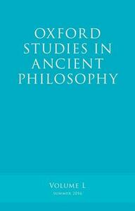 Oxford Studies in Ancient Philosophy, Volume 50 - cover