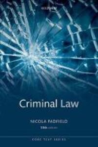 Criminal Law - Nicola Padfield - cover