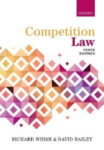 Competition Law - Richard Whish,David Bailey - cover