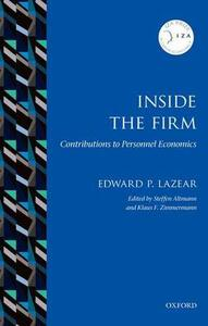 Inside the Firm: Contributions to Personnel Economics - Edward P. Lazear - cover