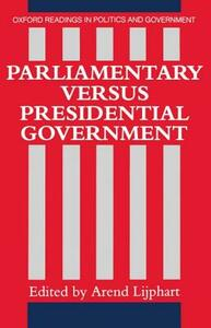 Parliamentary versus Presidential Government - cover