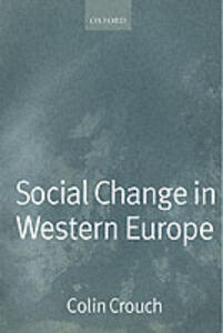 Social Change in Western Europe - Colin Crouch - cover