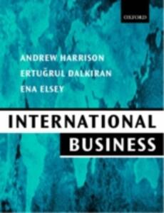 International Business: Global Competition From a European Perspective - Andrew Harrison,Ertugrul Dalkiran,Ena Elsey - cover