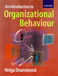 Introduction to Organizational Behaviour - Helga Drummond - cover