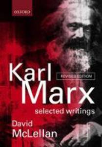Karl Marx: Selected Writings - Karl Marx - cover