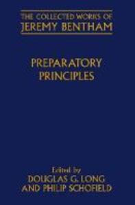 Preparatory Principles - Jeremy Bentham - cover