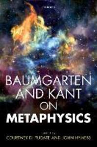 Baumgarten and Kant on Metaphysics - cover