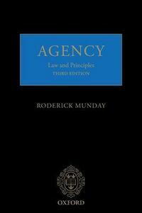 Agency: Law and Principles - Roderick Munday - cover