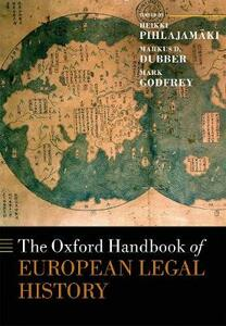 The Oxford Handbook of European Legal History - cover