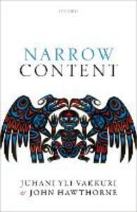 Narrow Content - Juhani Yli-Vakkuri,John Hawthorne - cover