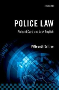 Police Law - Richard Card,Jack English - cover