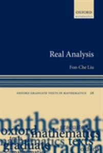 Real Analysis - Fon-Che Liu - cover