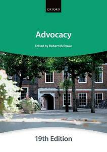 Advocacy - The City Law School - cover