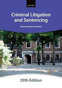 Criminal Litigation and Sentencing - The City Law School - cover