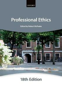Professional Ethics - The City Law School - cover