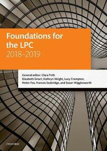 Foundations for the LPC 2018-2019 - Clare Firth,Elizabeth Smart,Kathryn Wright - cover