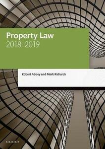 Property Law 2018-2019 - Robert Abbey,Mark Richards - cover