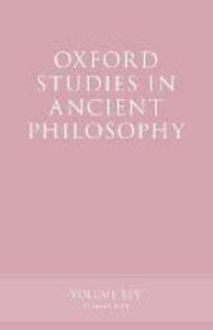 Oxford Studies in Ancient Philosophy, Volume 54 - cover